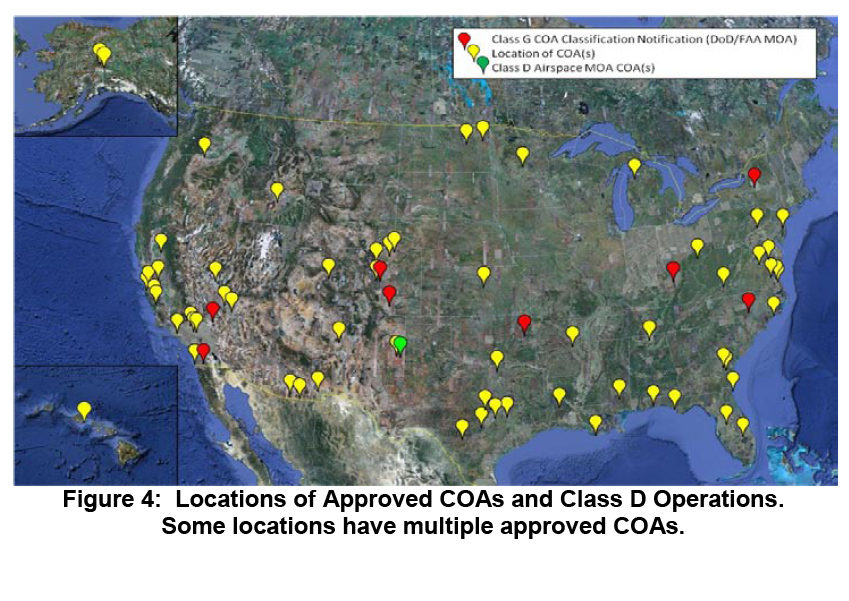according to this october 2010 report these are all the locations at which someone dod dhs and nasa are publicly admitted users other government