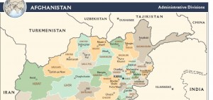 Detail from CIA map of Afghanistan.