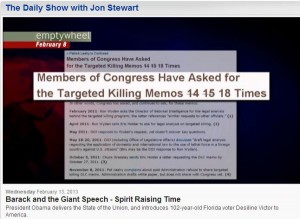TDS cites emptywheel for its Targeted Killing Memos request tally.