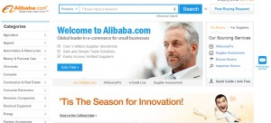 Splash page of alibaba.com, where it would appear that Patrick Campbell became Cassim and was unable to exit with his treasure.