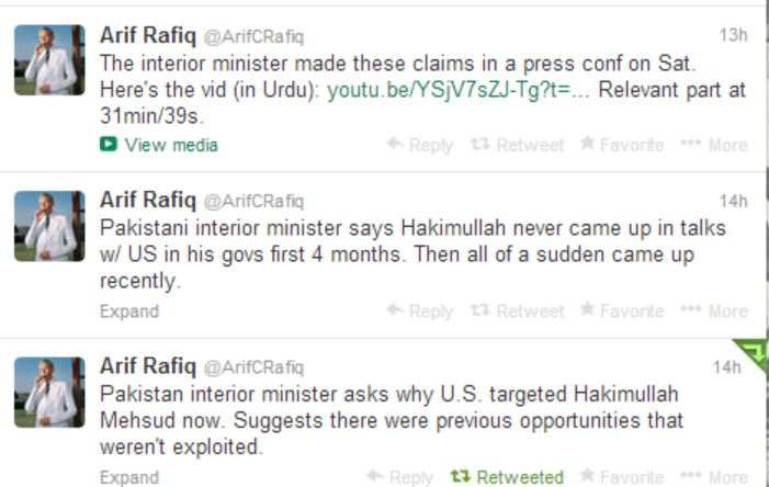 Rafiq on Pak IM press conf