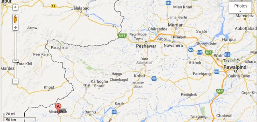Miranshah map