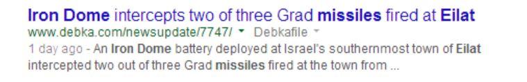 Google result Debka