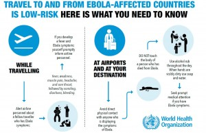 Helpful graphic from WHO illustrating precautions to prevent infection while traveling. Click on image to see a larger version.