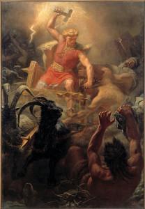 [image: Thor's Battle Against the Jötnar by Mårten Eskil Winge, c. 1872, via Wikimedia]