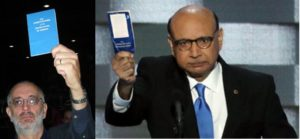 I waved my pocket copy of the Constitution at Nancy Pelosi on July 19,2008. Khizr Khan waved his at Donald Trump on July 28,2016.