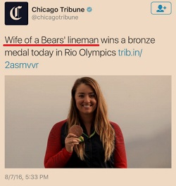[What's her name? How hard is it to print her name? Isn't this Journalism 101 -- get the subject's name?]