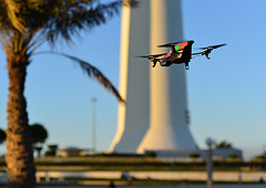 Photo: AR Drone 2.0 being tested near Kuwait Towers (by Cajie via Flickr)