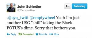 Schindler Black Potus