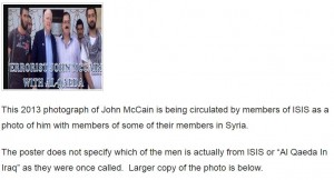 Partial screengrab from the Weasel Zippers post on the McCain photo.