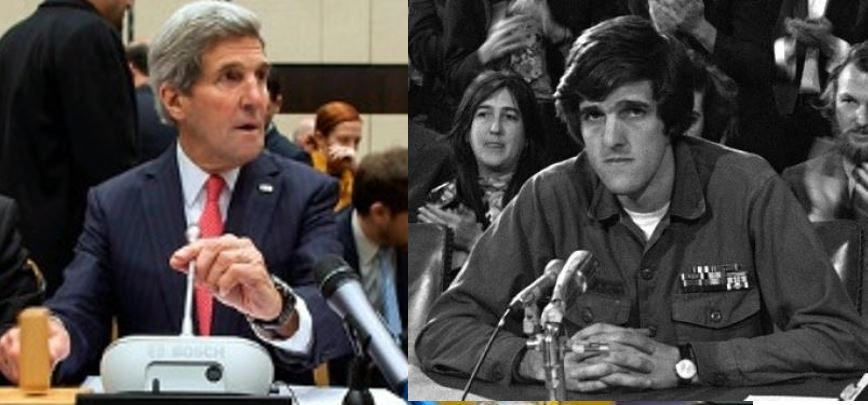 Does 2014 John Kerry ever look back on 1971 John Kerry?