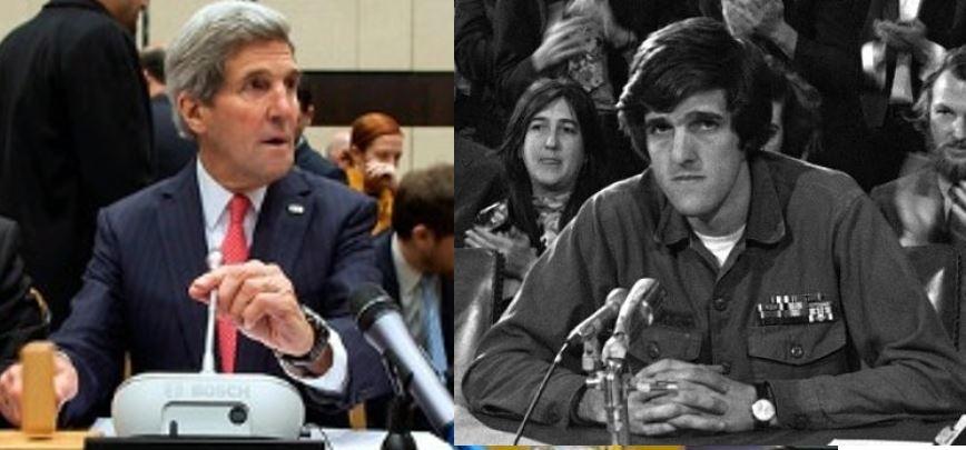 Does 2014 John Kerry ever look back on 1971 John Kerry?