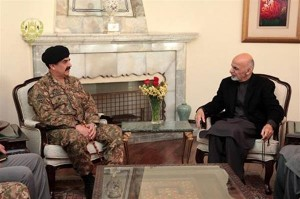 Pakistan's army chief  General Raheel Sharif meeting with Afghanistan's President Ashraf Ghani on December 17 to discuss cooperation in fighting terror.