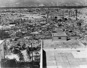 Hiroshima was flattened by the US on August 6, 1945 by the deployment of a nuclear weapon.