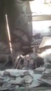 The MSF hospital in Kunduz after a US plane bombed it.