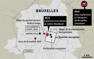 [graphic: Map of Belgian attacks 22MAR2016 for Le Monde via Eric Beziat]