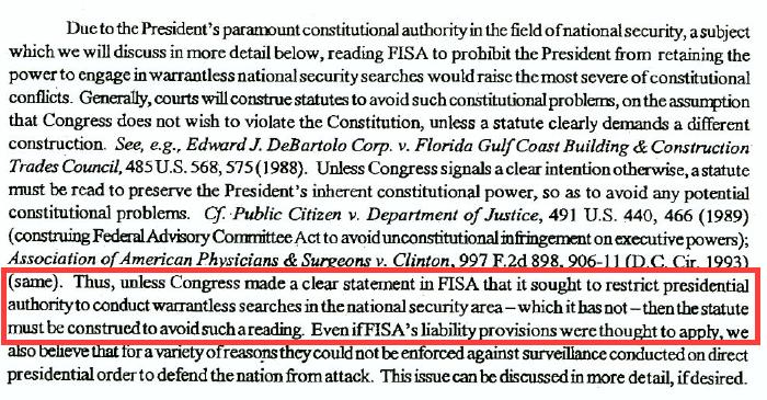 FISA Restrict