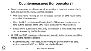SS7 countermeasures
