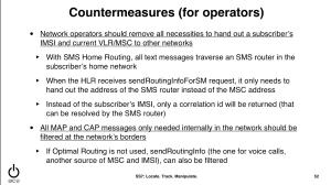 SS7 countermeasures