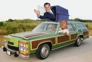trump-romney-car