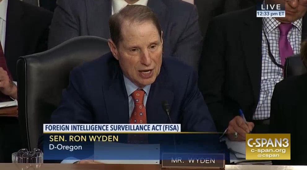 Ron Wyden Hints at How the Intelligence Community Hides Its Web Tracking Under Section 215