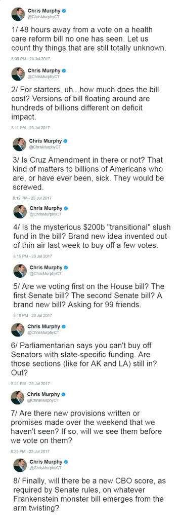 @ChrisMurphyCT tweet thread dd. 23JUL2017