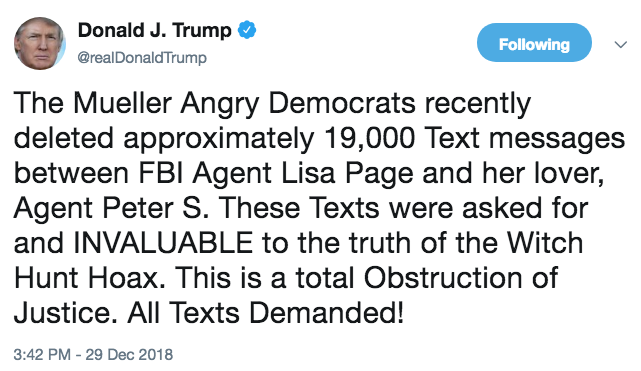 If Trump Is So Concerned that a DOJ Contractor Failed to Archive Texts, Why Not Hold the Contractor Accountable?
