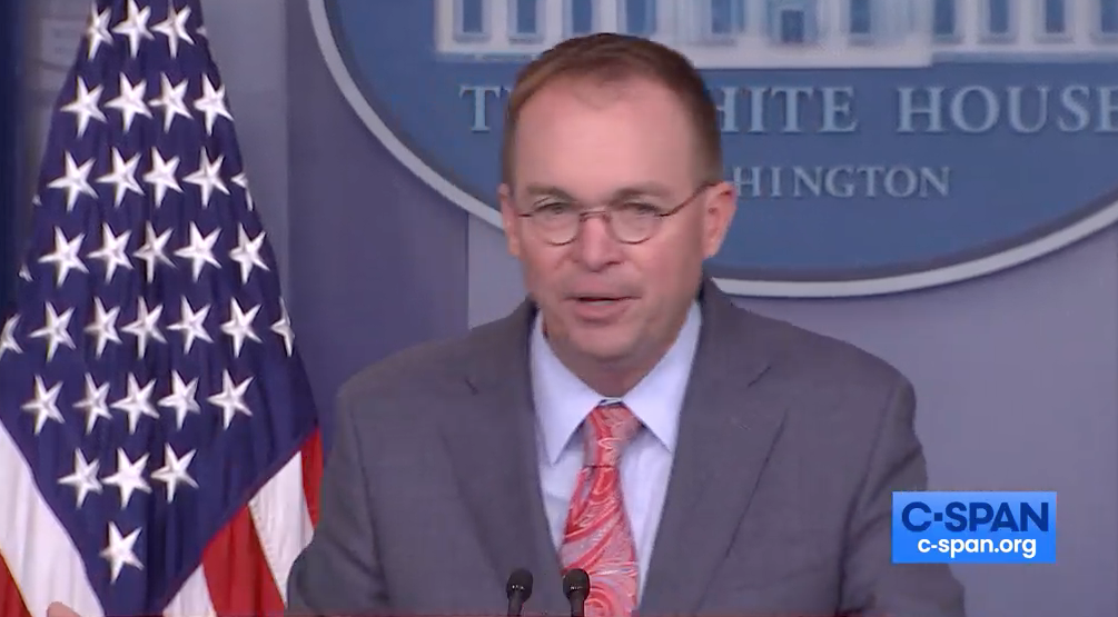 Mick Mulvaney Confesses OMB and DOD Are Withholding Evidence of a Crime from Congress | emptywheel